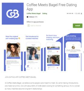 CoffeeMeetsBagel app rating by google play