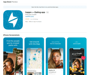 happn app rating by app store