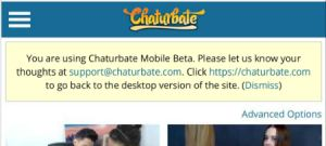 Chaturbate main page