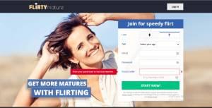 Flirtymature.com main page