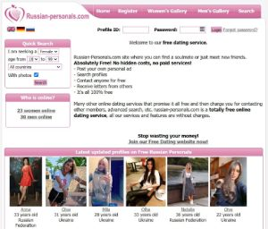 Russian-personals.com page