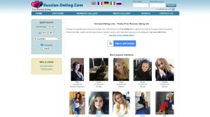 Russian-dating.com main page