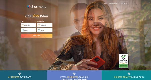 eHarmony.com main page