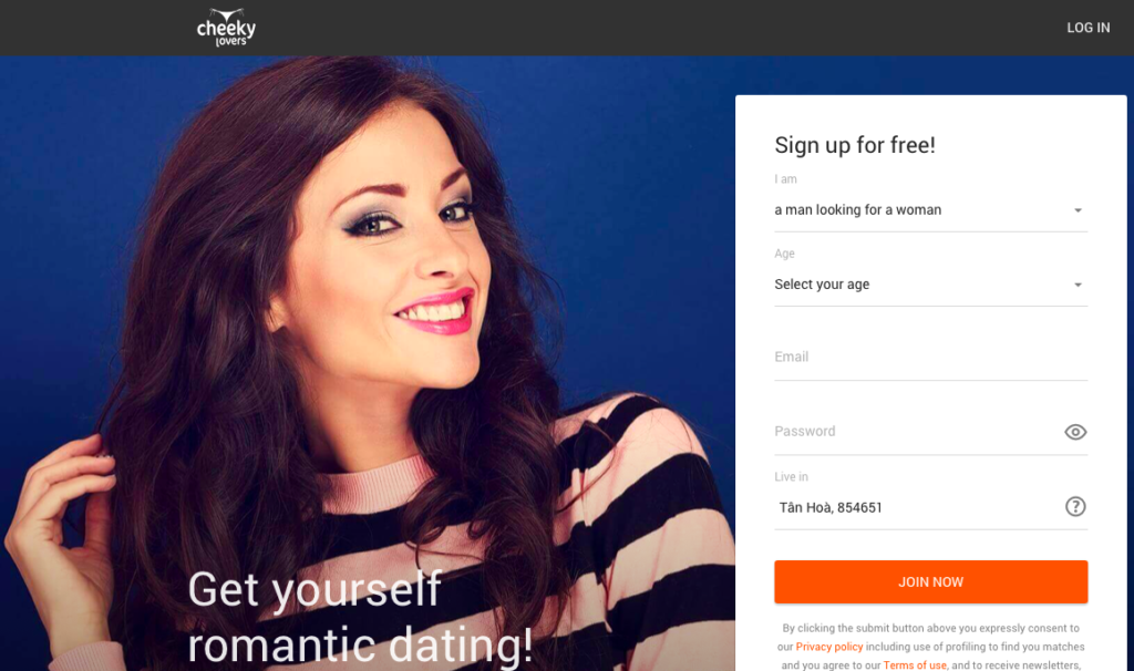 CheekyLovers Sign Up