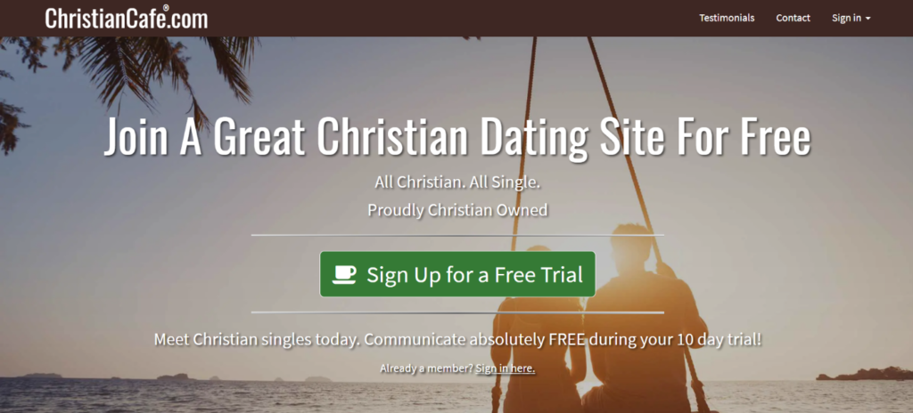ChristianCafe main page