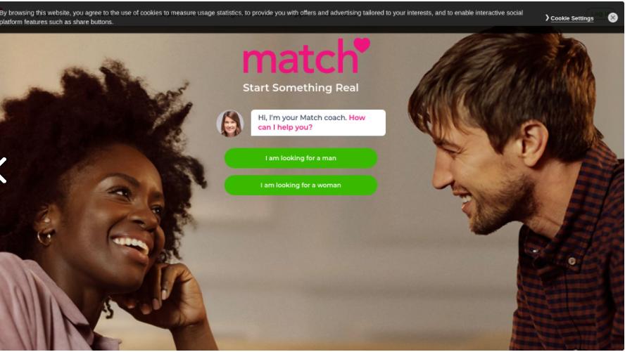 Match.com main page