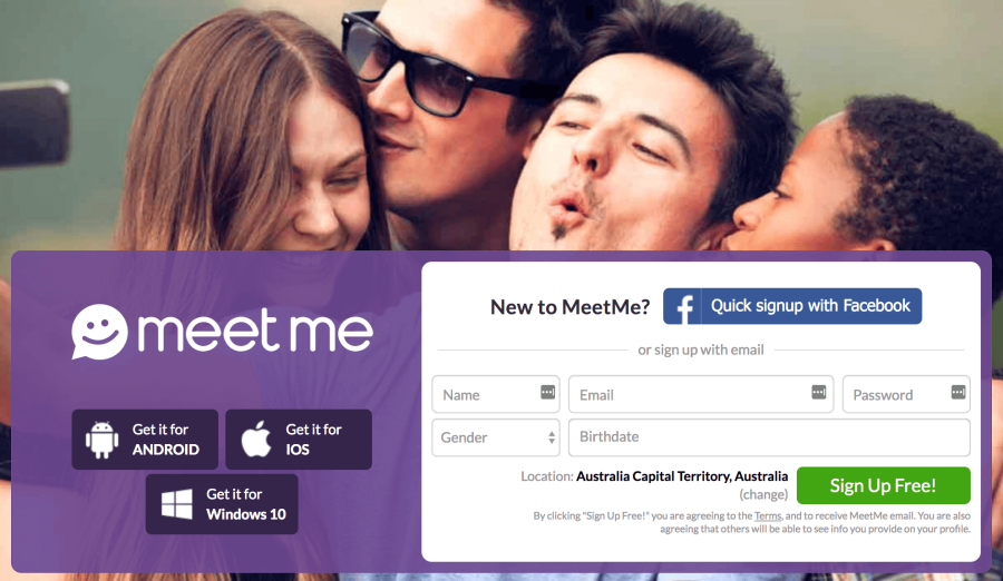 MeetMe Sign in