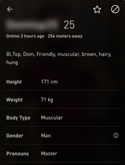 Profile Quality grindr
