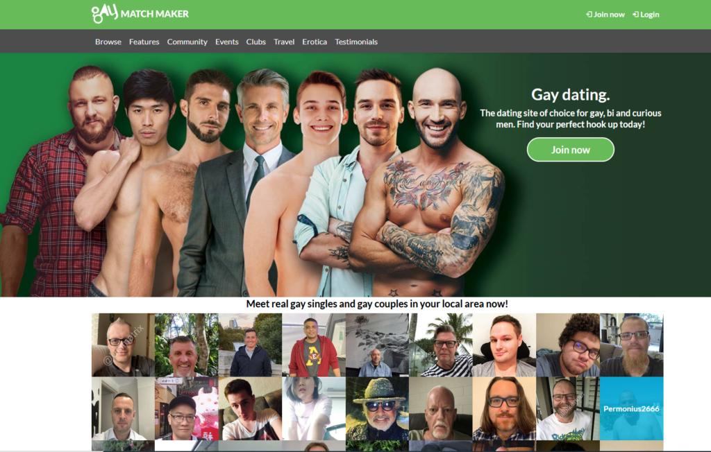 gay match maker main page